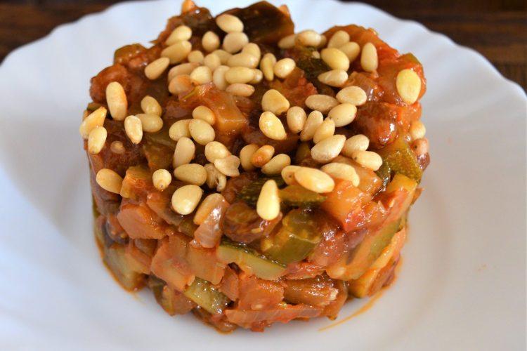 caponata, le ragoût de légumes, aubergines, courgettes, à l'italienne