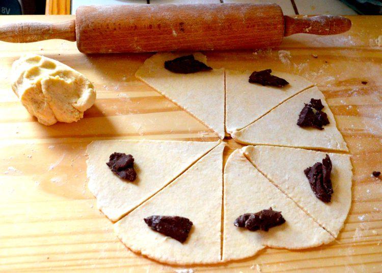 rogaliki z czezkolada, kuchnia polska, przepis,