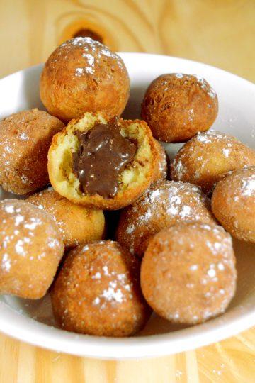 paczki serowe, czekolada, cukier