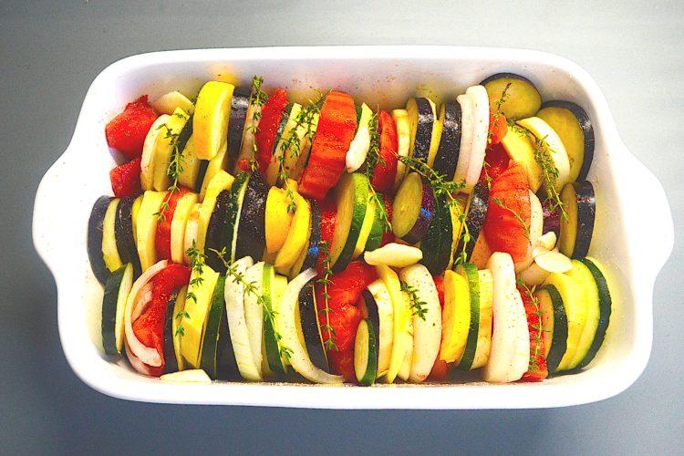 tian, légumes, aubergines, courgettes, tomates,