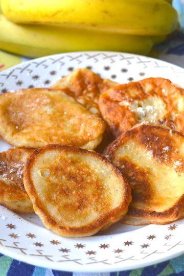pancakes, banane,