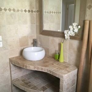 salle de bain 20x20 et 10x10 + frise