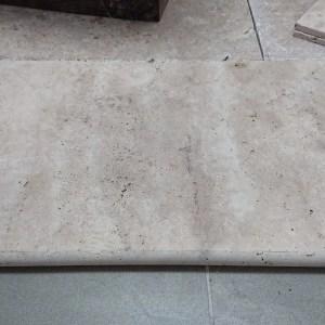 Margelle travertin vieilli 40,6x61x3cm 1er choix