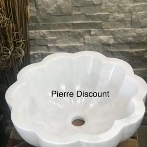 vasque en marbre blanc