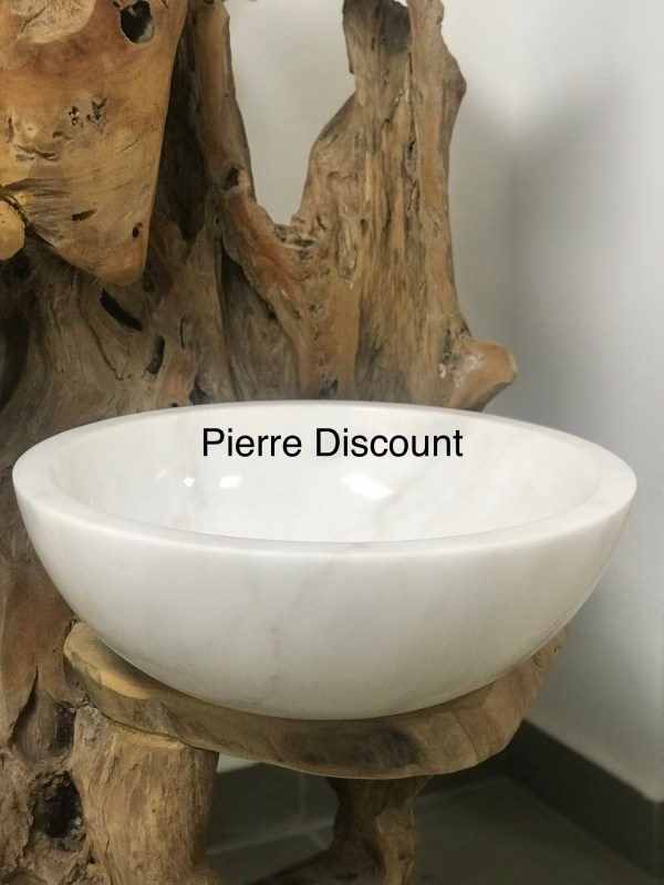 vasque marbre blanc