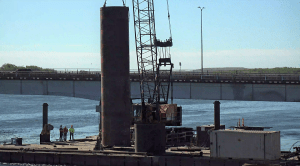 Permanent Casing being lifted by crane6_5.25.21