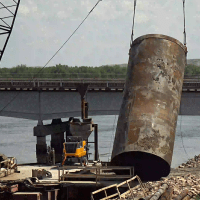 Lifting temporary casing for 2nd drilled shaft3_6.9.21