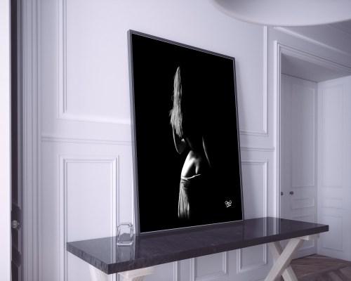 tableau moderne dos de femme nue 58 au pastel sec nude women painting
