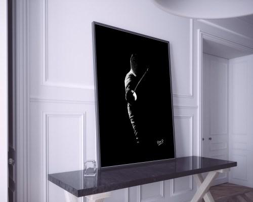 athletisme – tableau moderne d'escrime – fencing – sport 2 – pastel sec