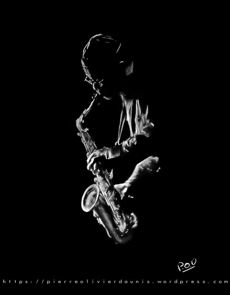 Tableau de musique 13 saxophoniste .tableau de musique et musicien