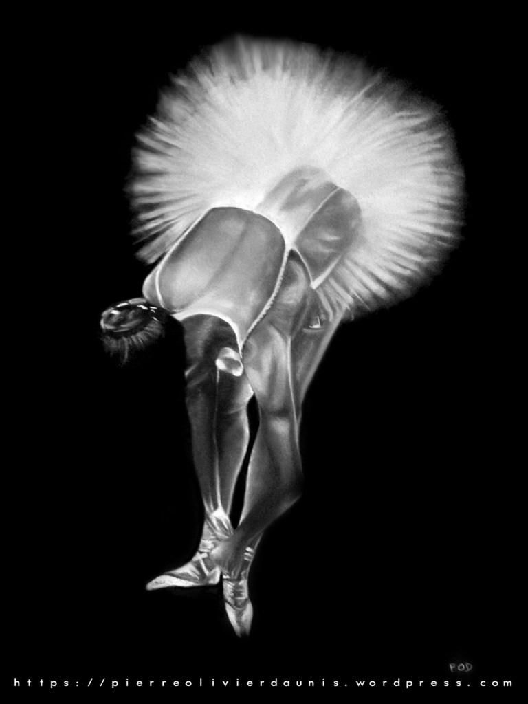 Tableau peinture moderne danseuse 3 danseuse classique tableau