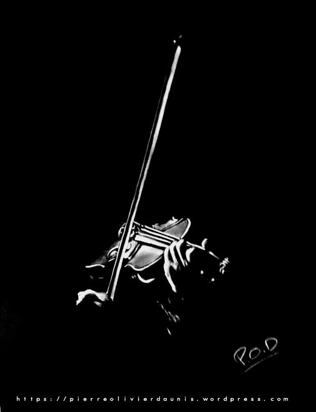 Violoniste 1: tableau moderne peinture de violon