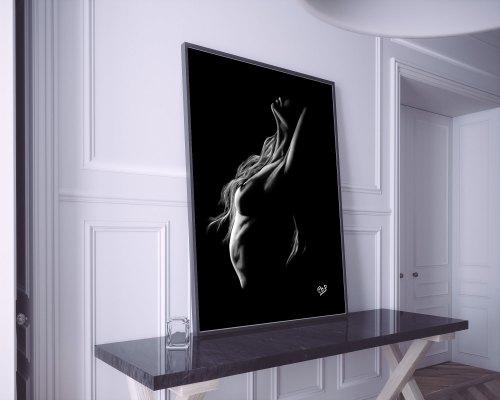 tableau moderne de femme nue 89 au pastel sec nude woman painting