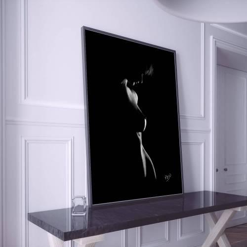 tableau moderne de femme nue 70 au pastel sec nude woman painting