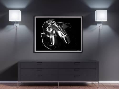 Tableau moderne danseuse 5 au pastel sec