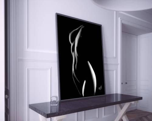 Courbes de femme nue 32 peinture moderne au pastel sec. Bodyscapes of woman painting