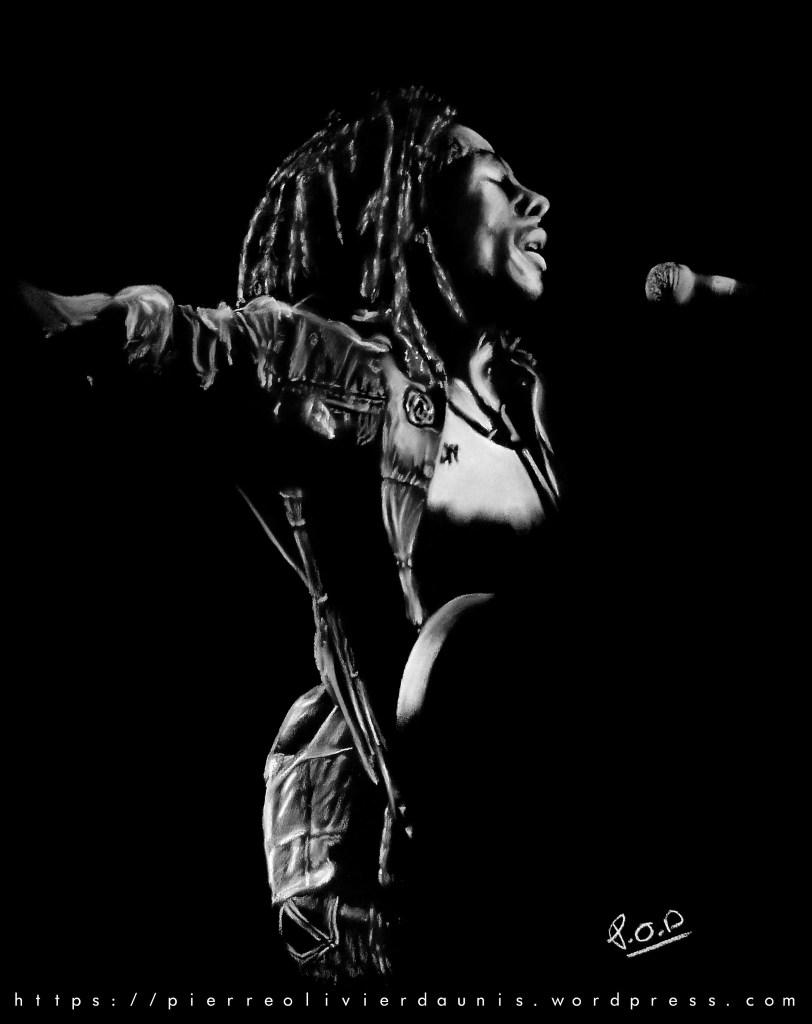 tableau moderne de musique - bob-marley - peinture tableau reggae