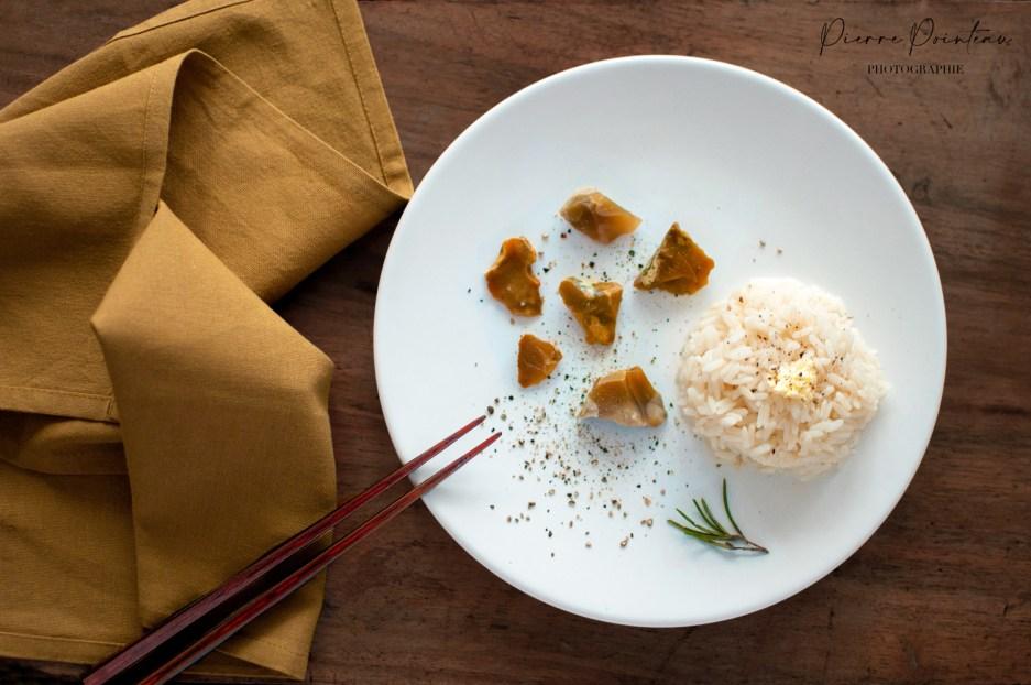 Photographie culinaire : une blanquette de silex