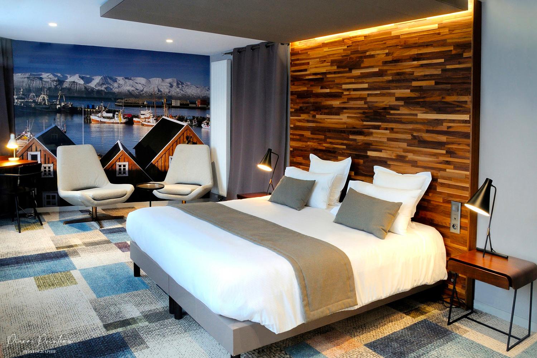 Photographie d'une chambre d'hôtel
