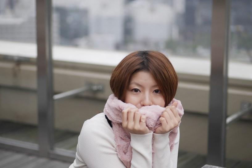 大阪 屋上庭園大阪駅 (モデル:沙織さん)