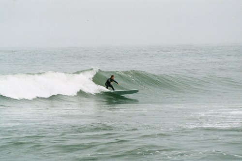 Some guy surfing at Bunkers a while ago.
