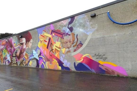Murale_Le sage et la muse_