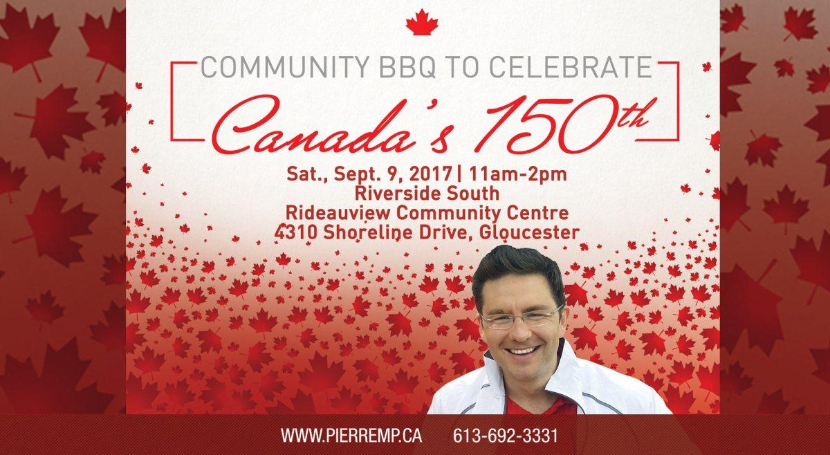 Community BBQ to celebrate Canada's 150th