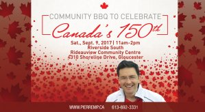 Community BBQ to celebrate Canada's 150th