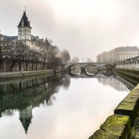 Misty morning in Paris