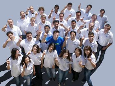 Submit Express Staff with CEO Pierre Zarokian