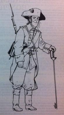 un soldat de l'armée du roi