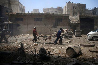 Civil tué par un bombardement aérien à Damas en 2016