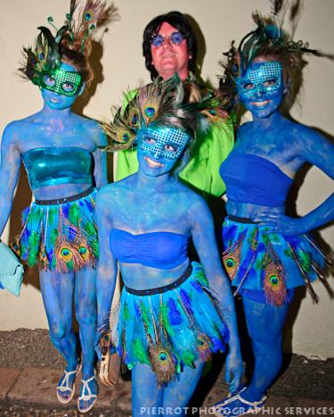 Cromer carnival fancy dress dayglow and avitar