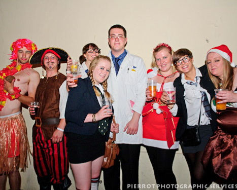 Cromer carnival fancy dress group of party goers