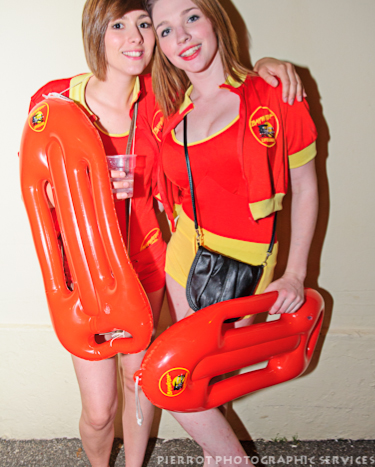 Cromer carnival fancy dress life guard girls