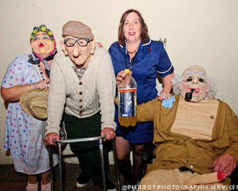 Cromer carnival fancy dress nurse with old people