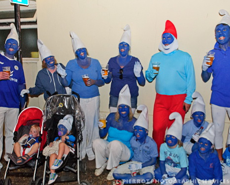 Cromer carnival fancy dress smurfs