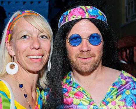 Cromer carnival fancy dress flower power couple