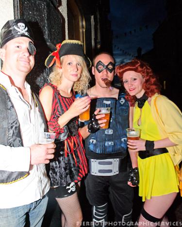 Cromer carnival fancy dress group in fancy dress