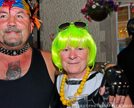 Cromer carnival fancy dress punk rocker and his partner
