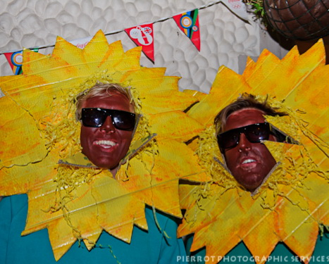 Cromer carnival fancy dress two sunflowers