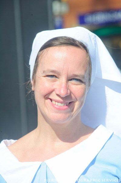 Nurse at the 1940s weekend in Sheringham, North Norfolk