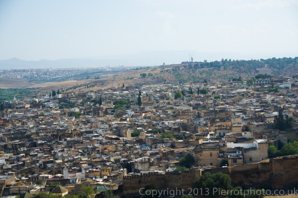 View of Fez from the hiils overlooking Fez, Morocco