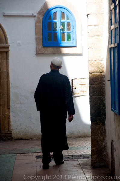 Moroccan man in the medina in Essaouira, Morocco