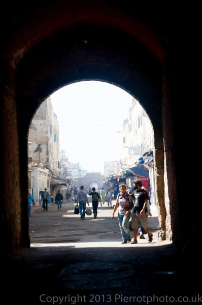Archway into the medina in Essaouira, Morocco