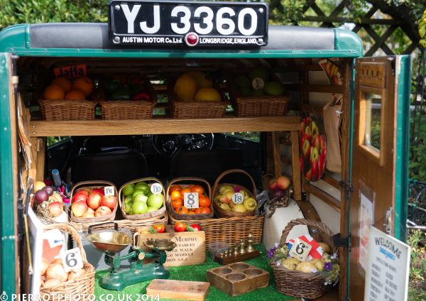 1940s weekend in Sheringham North Norfolk 2014 - 1940s fruit merchant's van