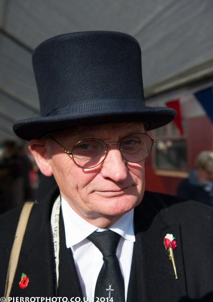 1940s weekend in Sheringham North Norfolk 2014 - undertaker