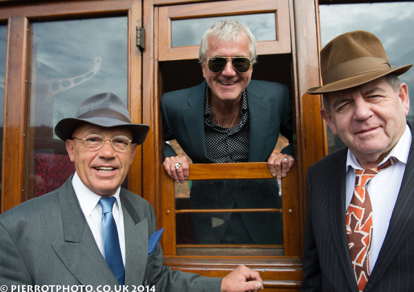 1940s weekend in Sheringham North Norfolk 2014 - three spivs