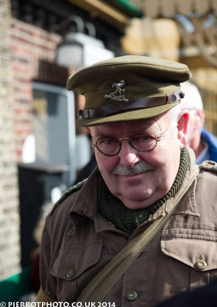1940s weekend in Sheringham North Norfolk 2014 - army captain
