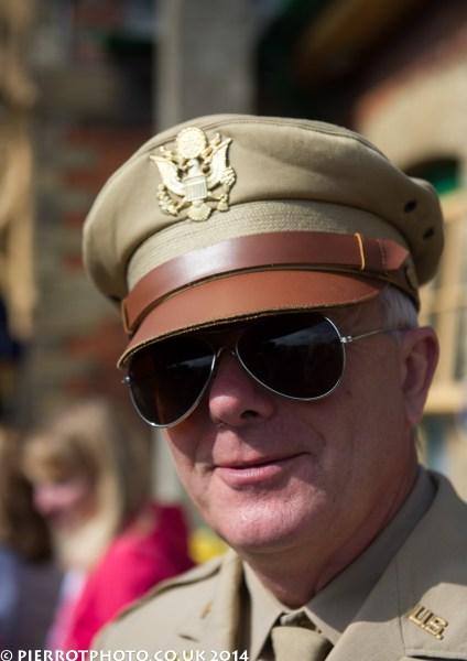 1940s weekend in Sheringham North Norfolk 2014 - US officer